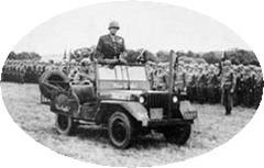 Le Général Patton et sa Jeep