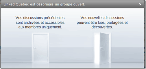 annonce groupe ouvert linkedin