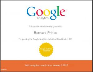 Maintenant certifié Google Analytics