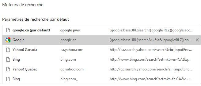 Ajouter un moteur de recherche dans Chrome