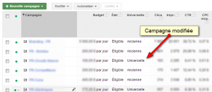 Campagnes universelles Adwords