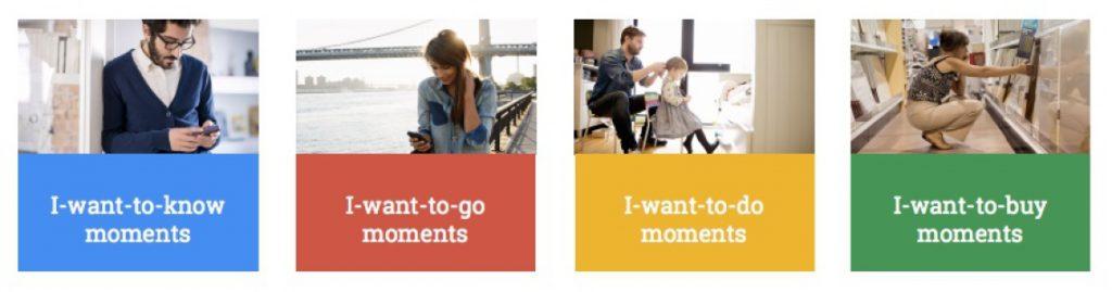 Le micros-moments selon Google